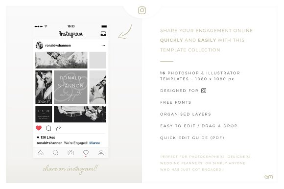 Storyboards Engagement Instagram Templates Creative Market