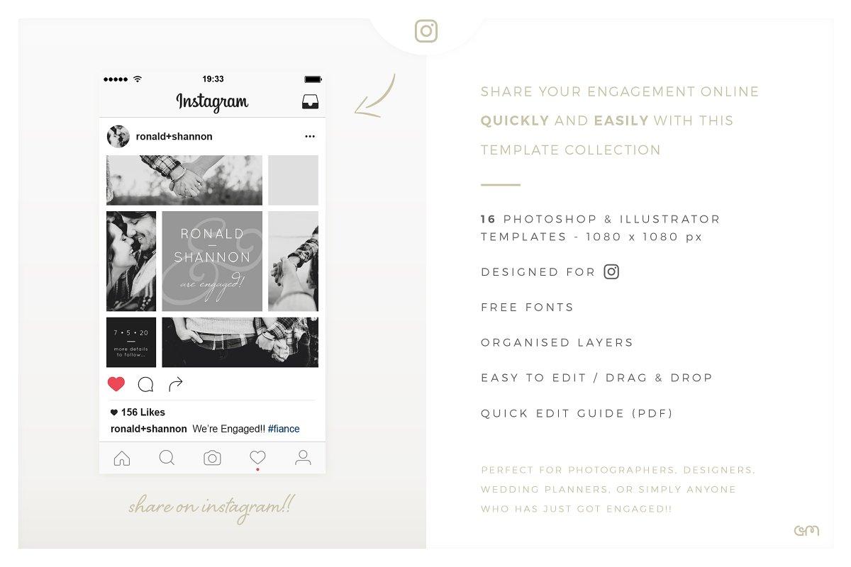 Storyboards Engagement Instagram Templates Creative Market