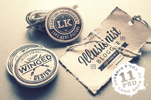 Vintage Logo Mock Up Set Volume 1