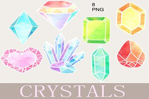 Colorful Crystal Clip Art