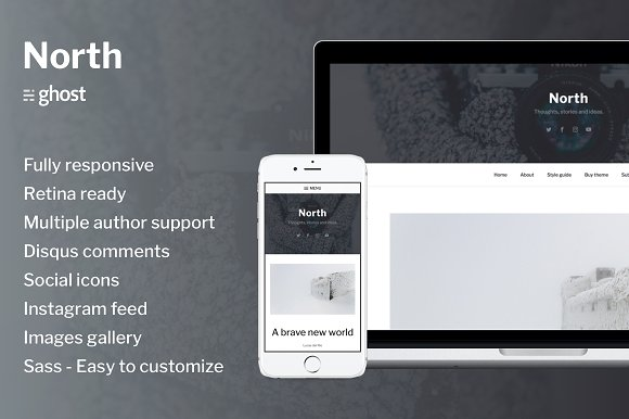 North Responsive Ghost Theme
