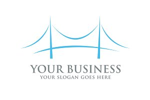 The Bridge logo design