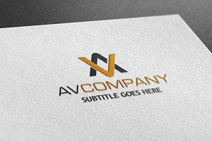 AV Company Style Logo