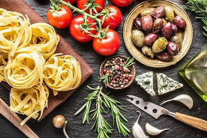 Pasta ingredients.