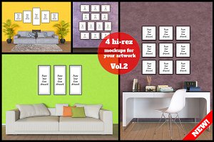 4 interior mockup bundle Vol.2
