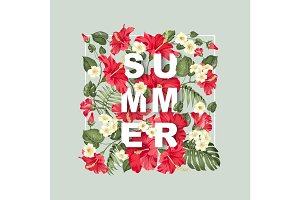 Summer sign concept.