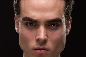 man model face head jawline closeup