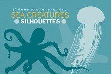 Sea Creature Silhouettes
