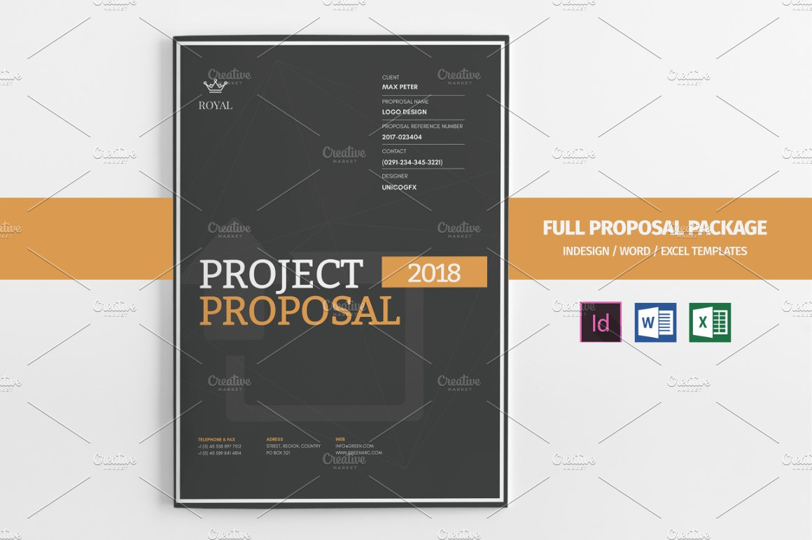 20 Creative Business Proposal Templates You Wont Believe Are – Project Cover Page Template