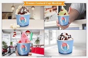 Frozen Custard Cup Mockup