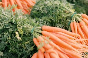 Carrots at Farmer's Market