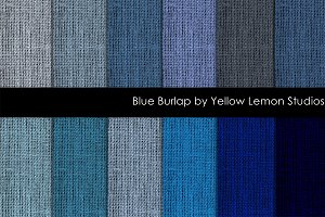 Blue Burlap digital paper textures