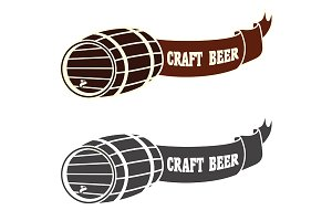 Craft beer vector logo