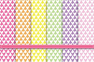 Lovely Heart Shape Digital Paper