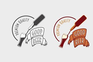 Good beer vintage logo