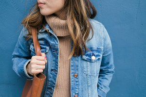 Denim Fashion Blue Wall