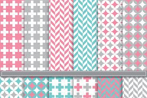 DigitalPaper Geometric & Houndstooth
