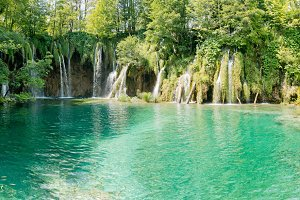 Beautiful view in the Plitvice Lakes National Park .Croatia