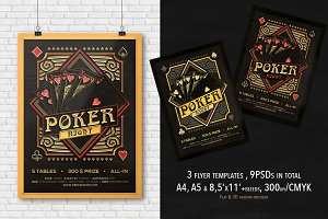 3 Poker Magazine Ad, Poster or Flyer