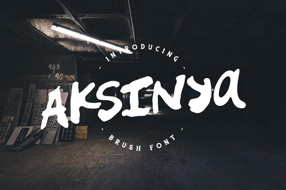 Best Aksinya Brush Font Vector