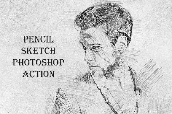 Pencil Sketch Actions For Photoshop