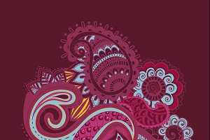 Flower Pattern Bright Abstract wallp