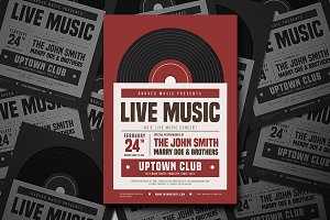 Indie Live Music Flyer