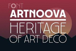 Artnoova font. Heritage of Art Deco