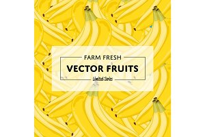 Organic farm fruit square banner