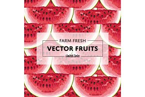 Organic farm fruit square banner