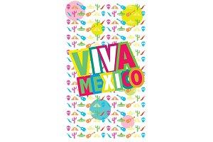 Viva Mexico, vector