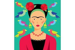 Mexican woman, vector