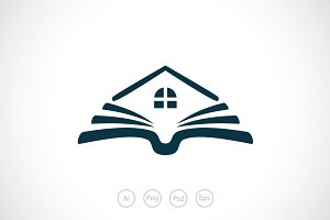 Personal Home Library Logo Template