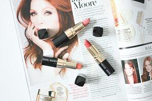 Lipsticks & Magazine
