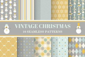 10 Vintage Christmas Backgrounds