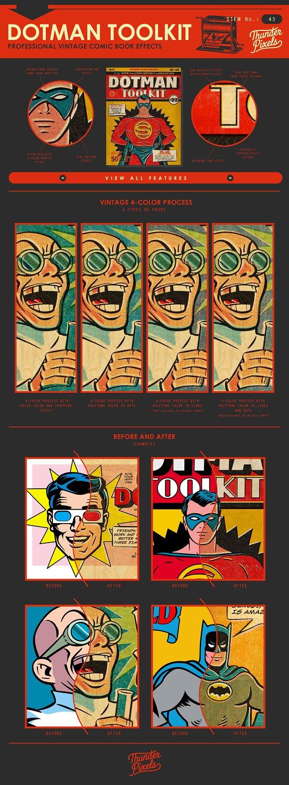 Dotman toolkit vintage comic effects actions creative market baditri Gallery