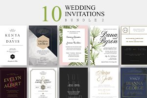 10 Wedding Invitations - Bundle 2