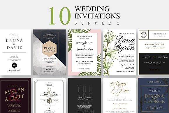 10 Wedding Invitations