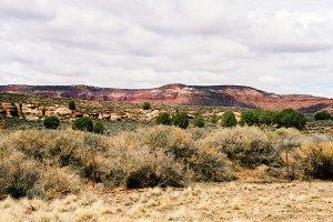 Utah Mountain And Flat Land