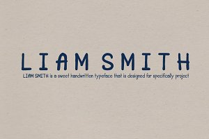 Liam Smith Handwritten font