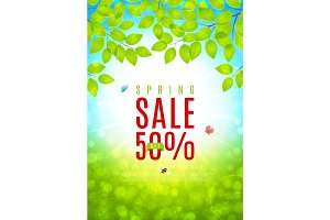 Beautiful flyer for spring sale