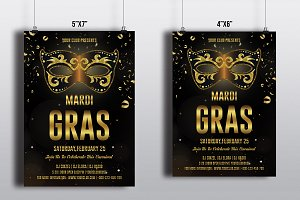 Mardi Gras Party Flyer-V492
