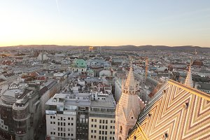 Aerial view of Vienna  Austria