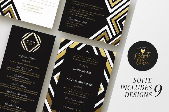 Wedding Invitation Suite Diana