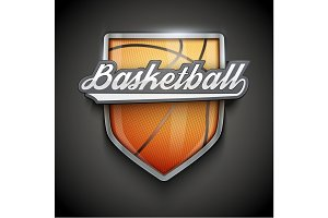 Premium symbols of Basketball Emblem