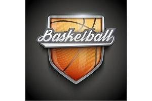 Premium symbols of Basketball Emblem