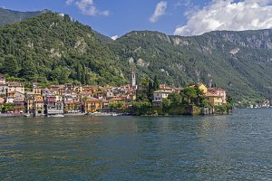 View of the town of Varenna, Italy
