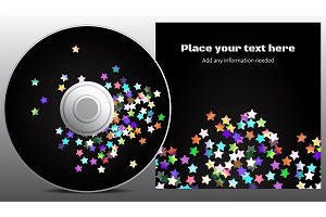 CD and cover disco design