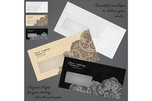 Envelopes print over template
