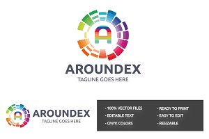 Aroundex (A Letter) Logo